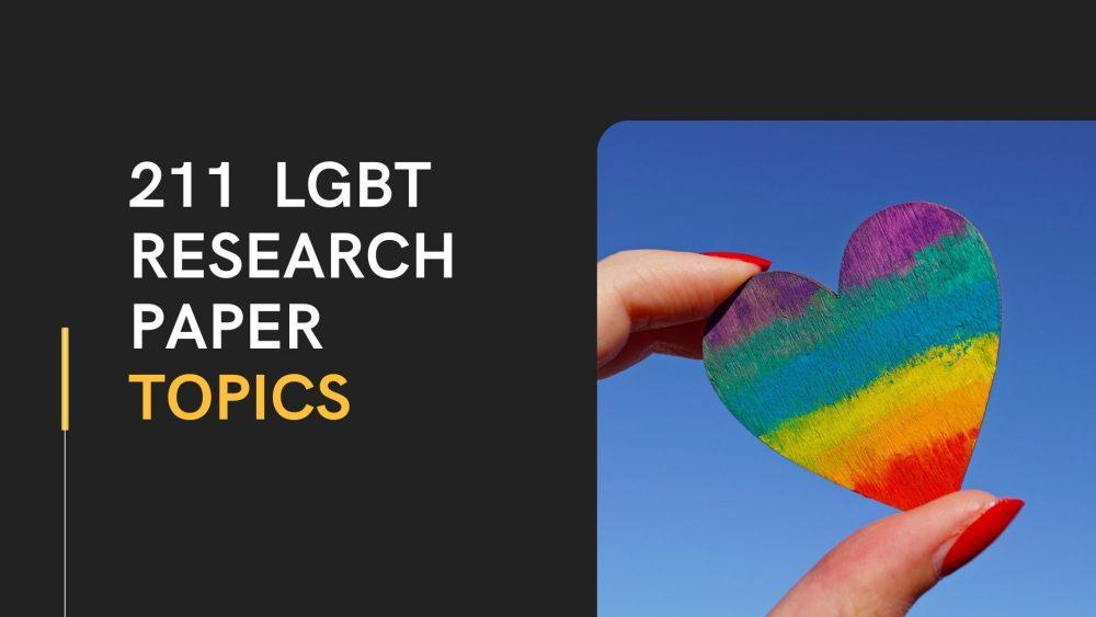 LGBT Research Paper Topics