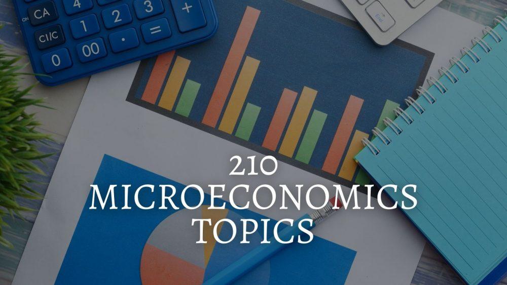 210 Catchy Microeconomics Topics For Students