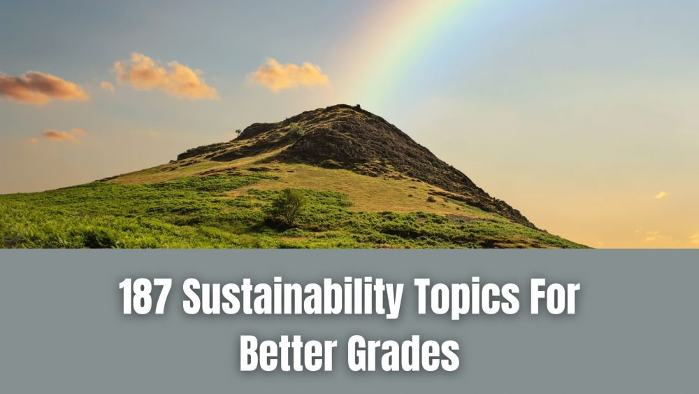 187 Sustainability Topics For The Top-Notch Thesis